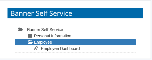 A screenshot of the Employee Section in Banner Self Service within the Wheaton Portal