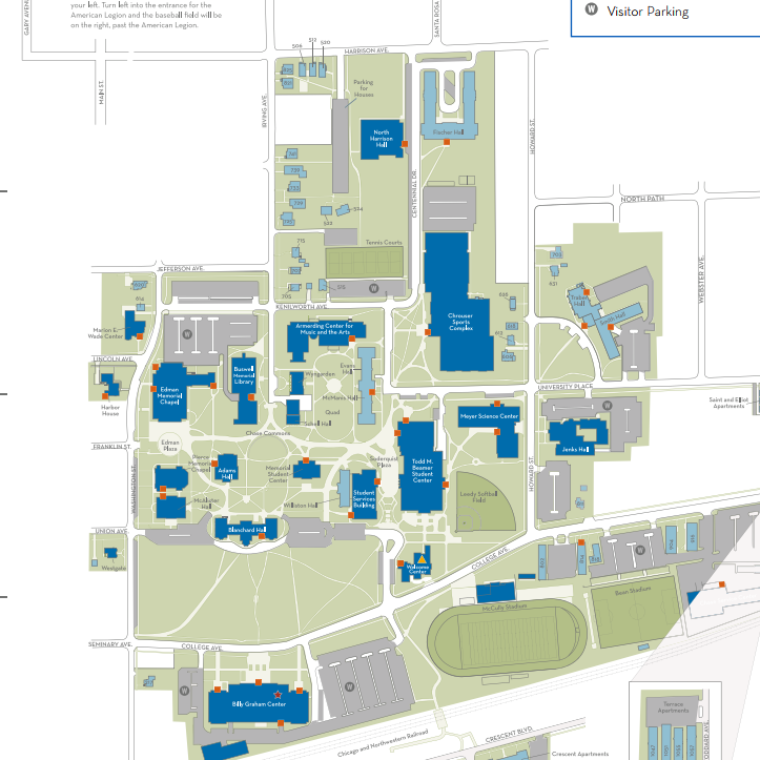 Campus Map of Wheaton College