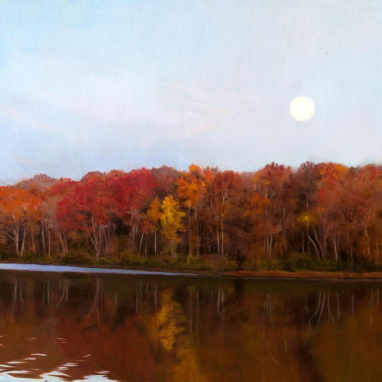 Moonrise Fox River