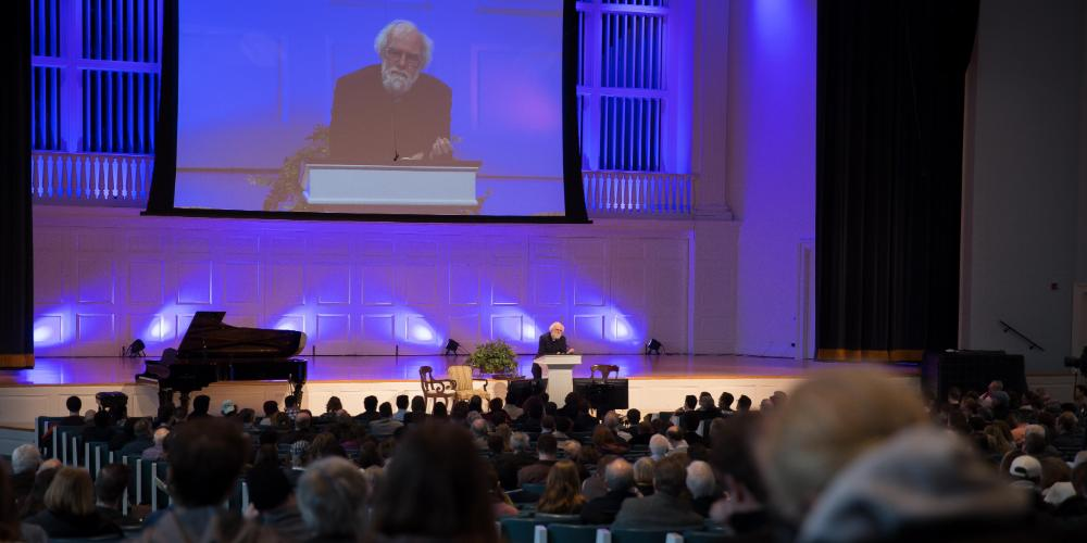 Rowan Williams speaking at the Wheaton Theology Conference