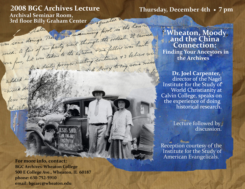 Handbill for 2008 Lecture