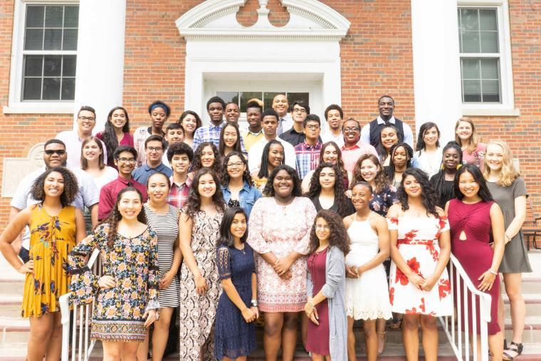 BRIDGE Pre-College Program students at Wheaton College