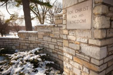 Stone Wall with For Christ and His Kingdom