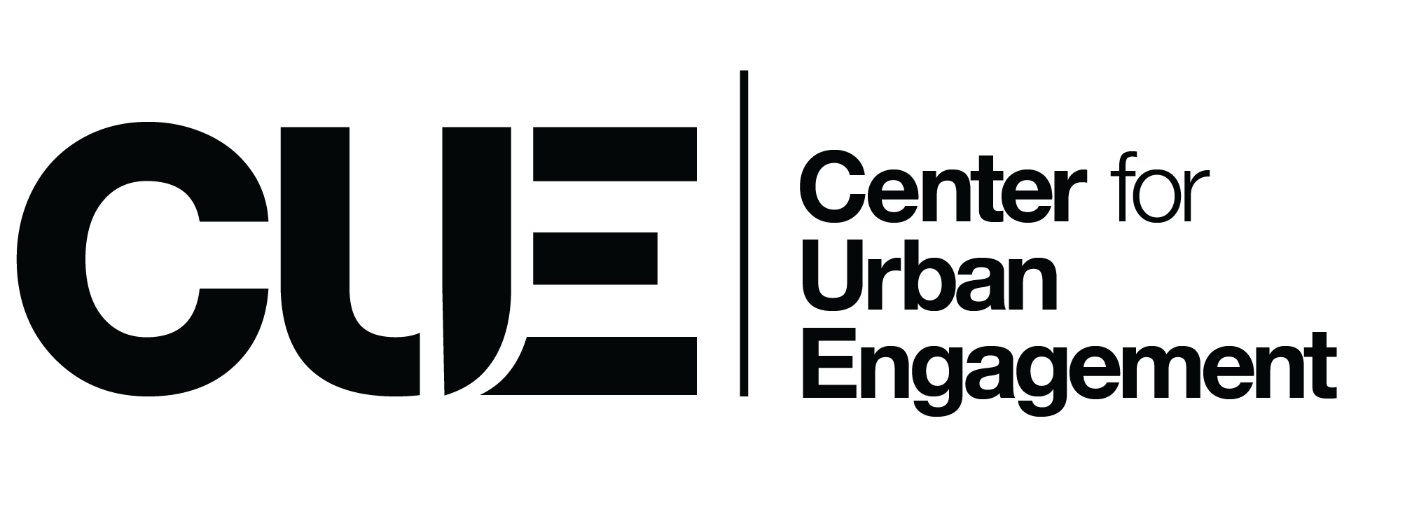 Center for Urban Engagement Logo - Black with Transparent Background