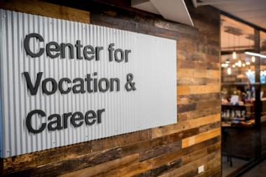 Center for Vocation and Career (CVC) Sign