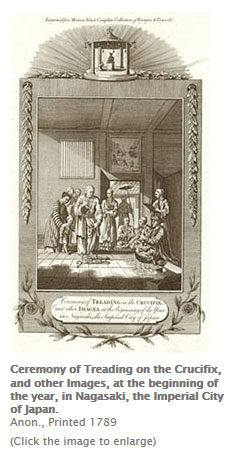 Ceremony of Treading on the Crucifix Illustration