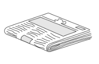 Sketch of a folded newspaper