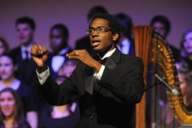 Shawn Okpebholo Conducting at Wheaton College IL