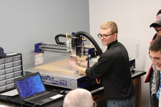 CNC Router ShopBot in Wheaton College IL Engineering Lab