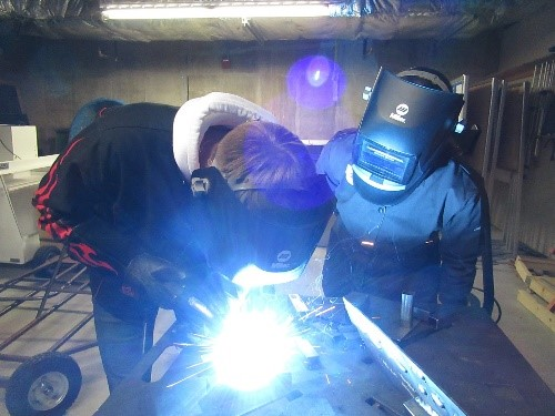 Welding at Wheaton College IL Engineering Lab