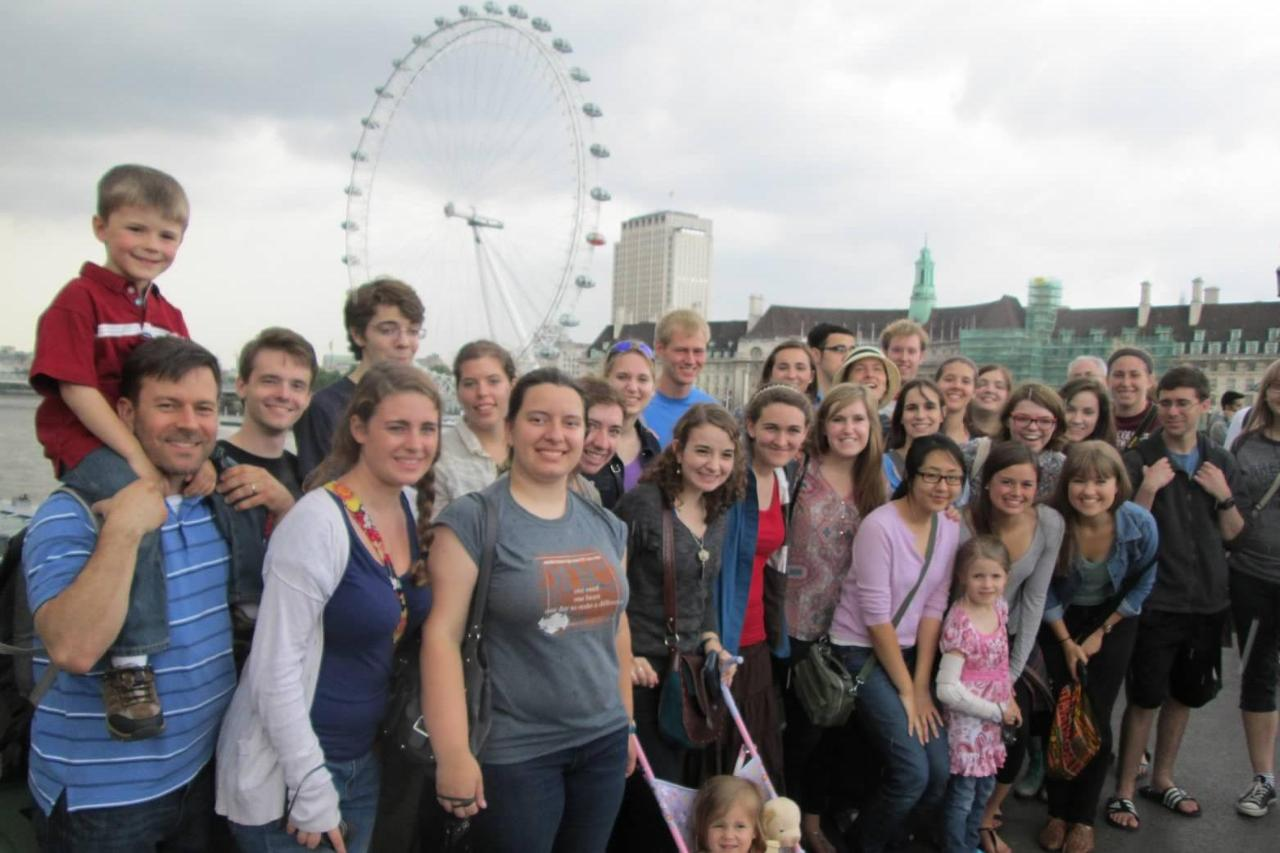Wheaton in England Students in London