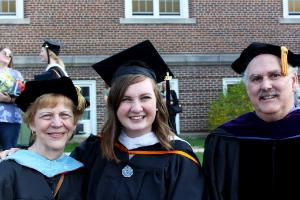 Maddie MacMath with TESOL Faculty at Graduate Commencement