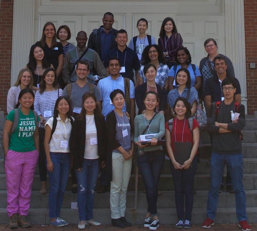 Graduate students at orientation