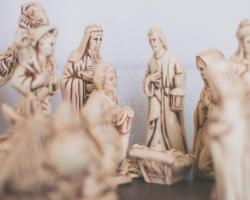 ivory nativity set