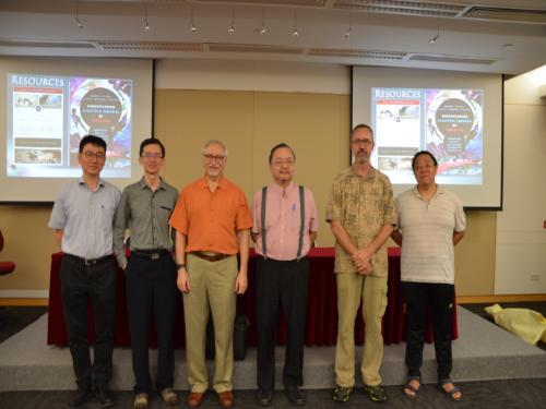 group photo with students and faculty at HKBU