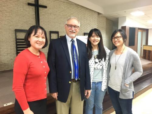 Wheaton staff, faculty, and students in Taiwan