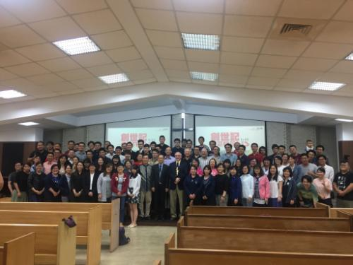 Group photo of seminary students in Taiwan