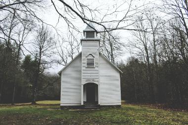 White chapel in the country