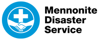 Mennonite Disaster Service Logo Blue White
