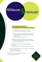 Journal of Psychology and Theology Cover