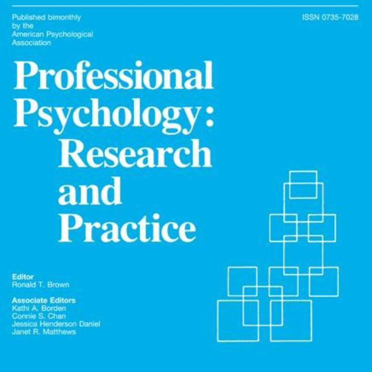 Professional Psychology: Research and Practice