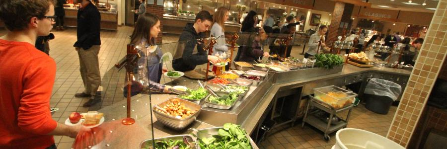 Anderson Commons Salad Bar Wheaton College IL