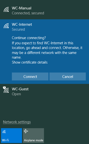 Wireless Certificate Error