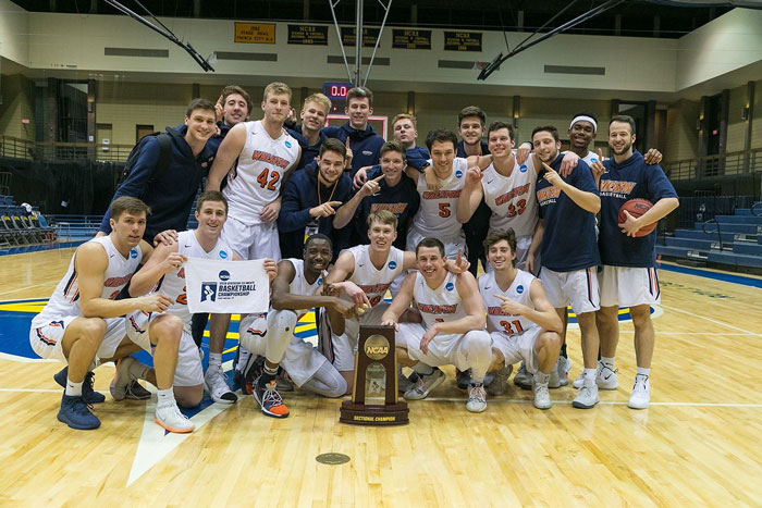 Men's Basketball Team Wheaton College IL