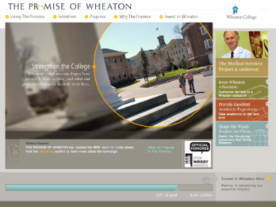 Promise of Wheaton Website Screenshot