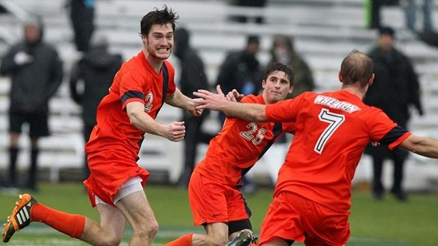 Stephen Golz OT Soccer win Wheaton College