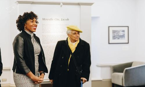 Lt. Governor Juliana Stratton visits Wrestle On, Jacob Exhibit