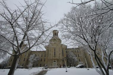 Blanchard Hall in snow 380x253