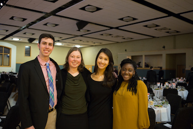 Students at 2019 Declaration Dinner