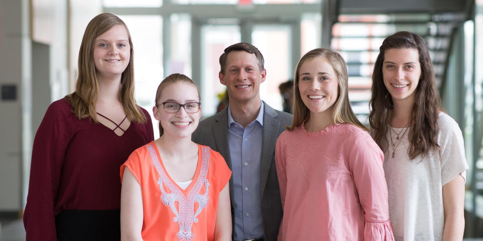 Dr. Scott Ickes and Student Researchers