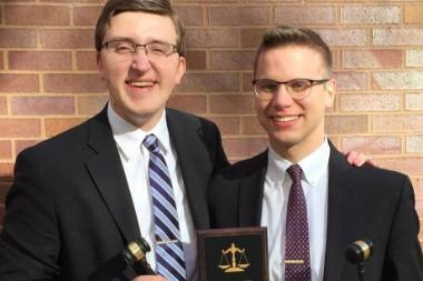 Moot Trial Winners  Wheaton College IL