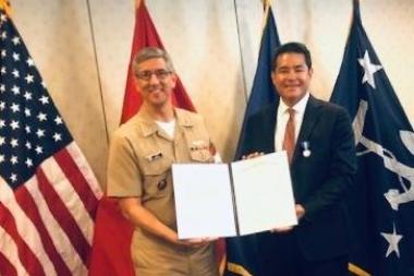 David Iglesias and Navy award 380x253