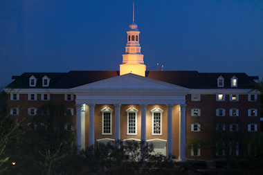 Billy Graham Hall  at Night