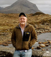 Andrew Jones '12 at the Isle of Skye in the Scottish Highlands