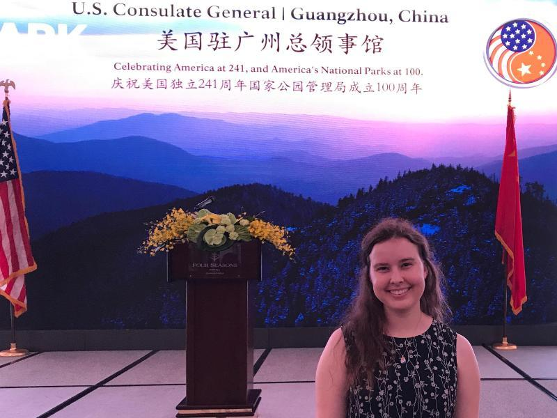 Hannah Streed at US Consolate in Guangzhou, China