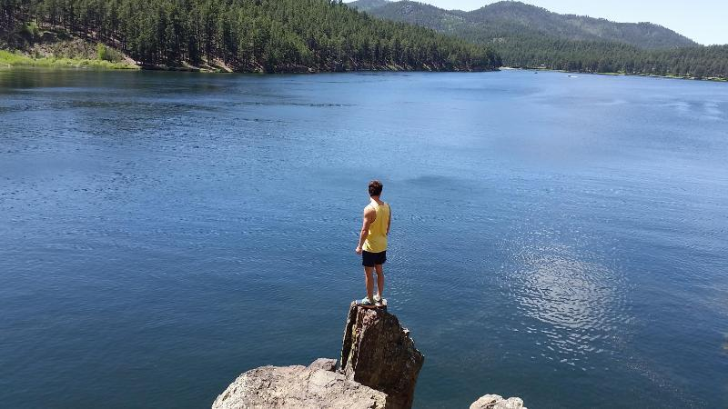 Cliff Jumping at Sheridan Lake Black Hills Science Station