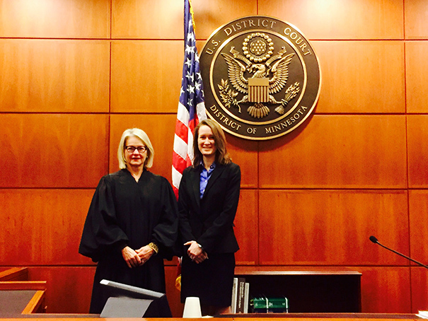 Stephanie with Judge Joan Erickson