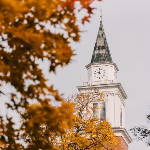 Edman Chapel on Wheaton Campus during the Fall