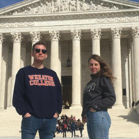 480 x 480 Paul Green and Laural Nee visit U. S. Supreme Court